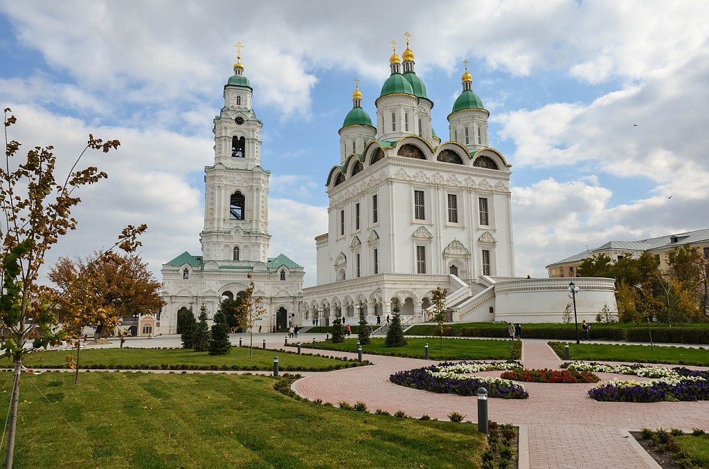 Астрахань, главная, кремль, вид на город