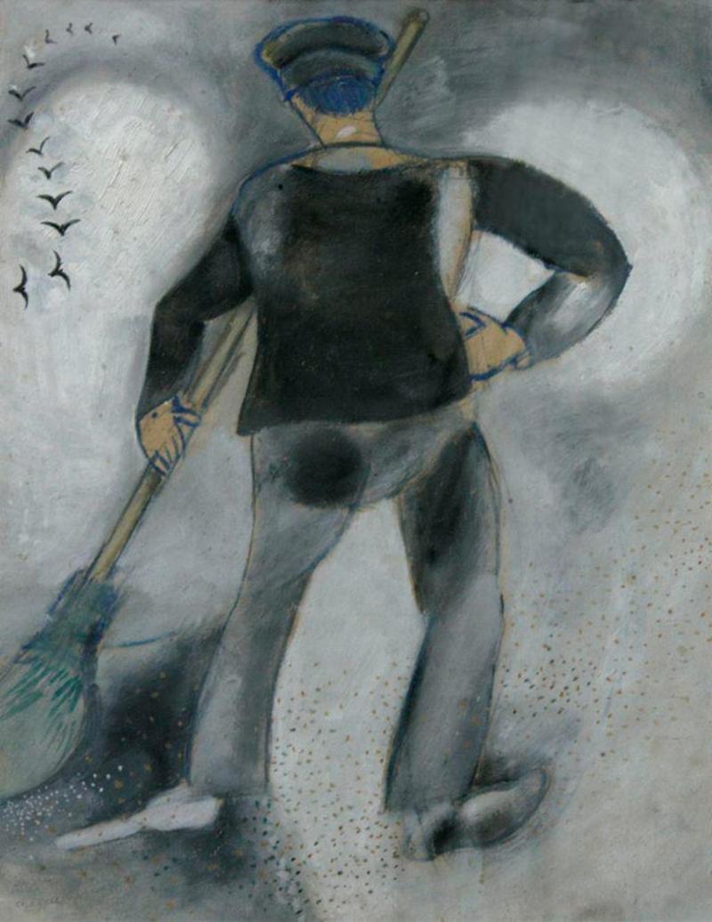 Шагал Метельщик, картинная галерея, шедевр,
