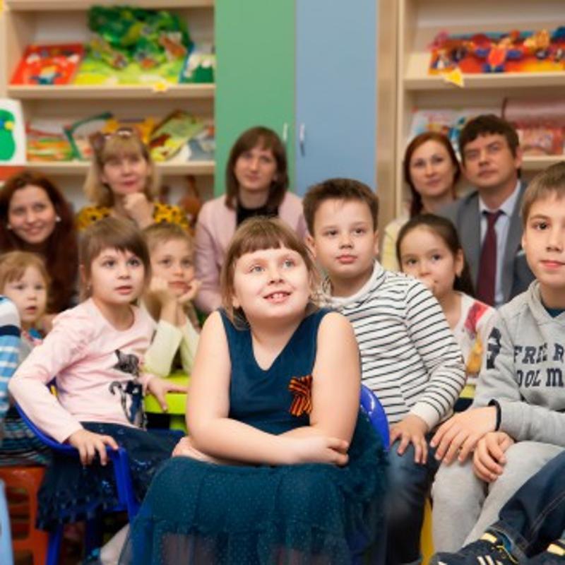дети, библиотека, зрители,