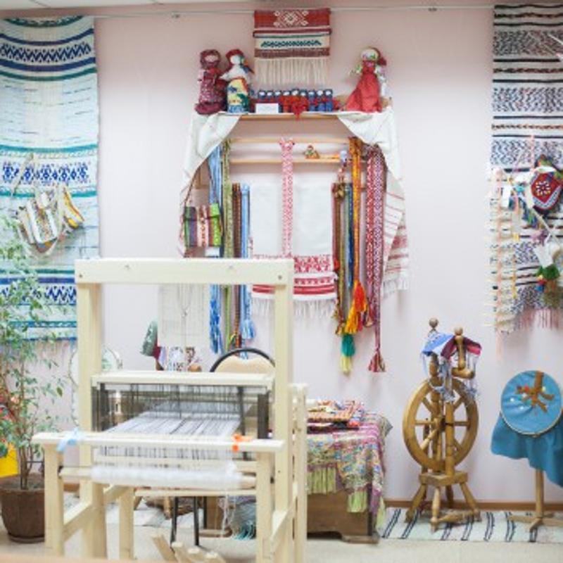 Дом ремёсел, ткачество, ткацкий станок, народ,
