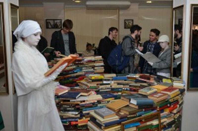 Библионочь, библиотека имени Крупской, книги,