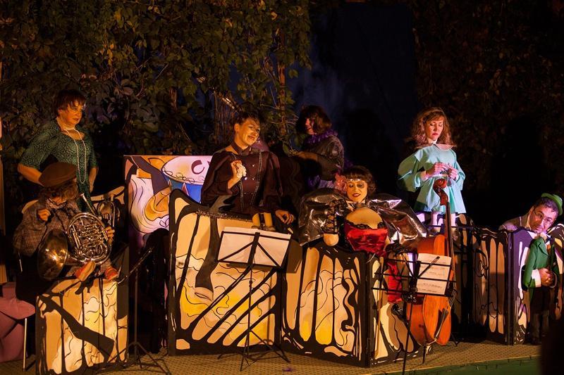 Театр кукол, оркестр,