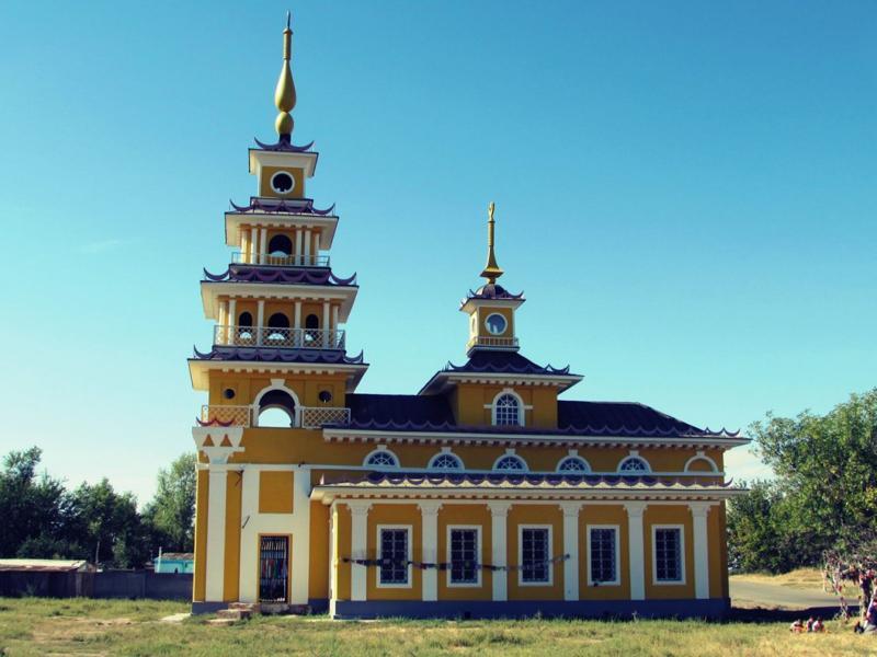 Хошеутовский хурул, главная, архитектура, вид, буддизм,