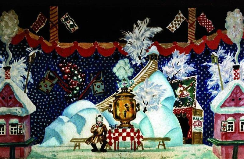 Тула. II действие. Эскиз декорации к пьесе Е. Замятина. 1924 г.