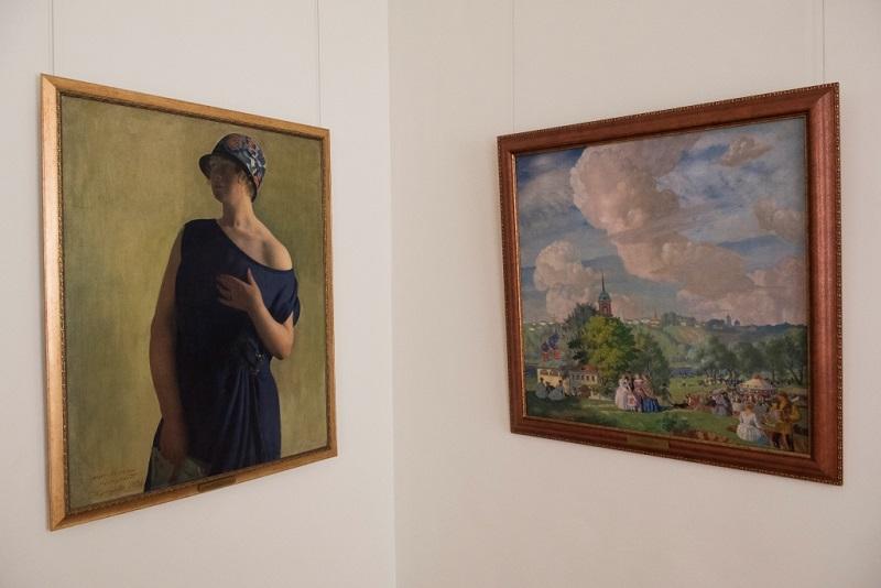 Б.М. Кустодиев. «Портрет Ирины Кустодиевой» (1926), «Летний Праздник» (1923).
