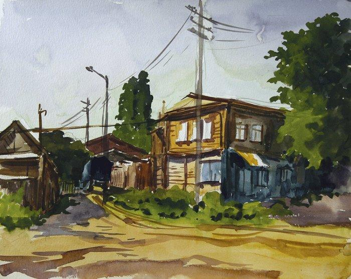 """""""Лето. Поселок Царицыно"""". 1996 г."""