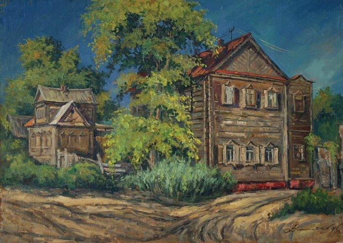 """""""Рыбацкий дом на Золотом затоне"""". 1995 г."""