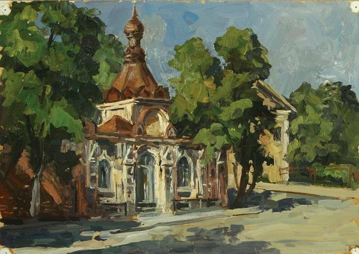 """""""Новодевичий монастырь. Астрахань"""". 1995г."""